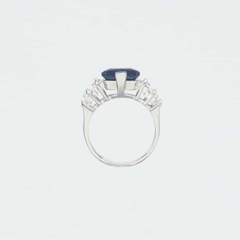 Anello argento zaffiro zirconi