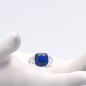 Anello argento zirconi blu zaffiro