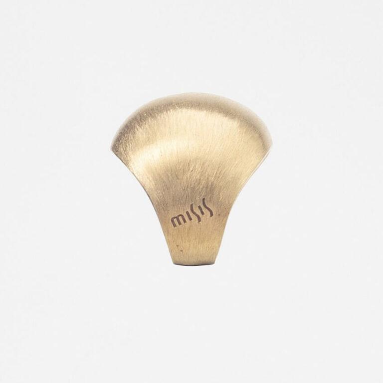 Anello fascia bombato oro satinato