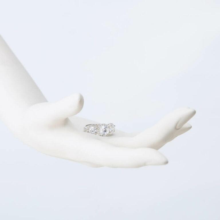 Anello trilogy argento zirconi