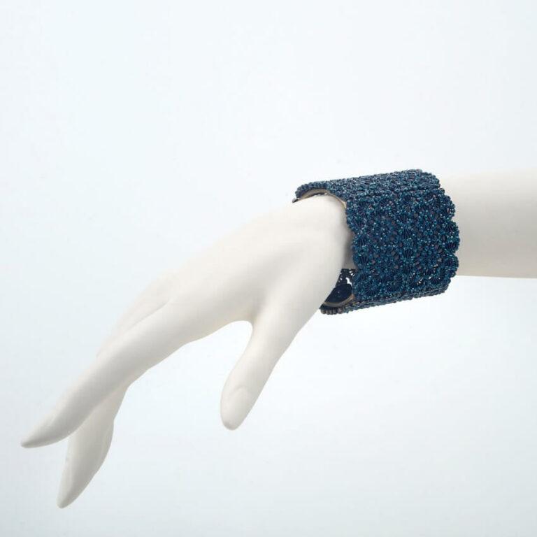 bracciale strass blu