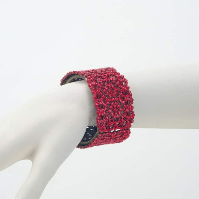 bracciale strass rosso