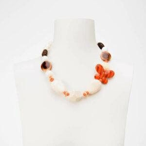 Collana farfalla arancione