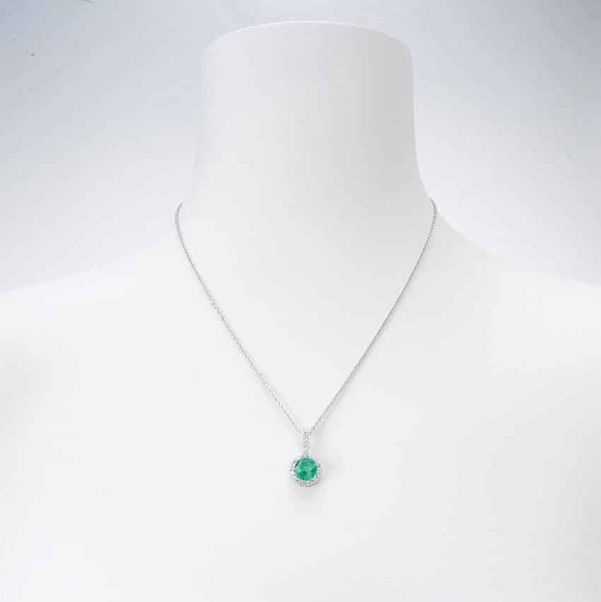 Ben noto Collana girocollo con ciondolo colore verde smeraldo - Chic Ad Hoc MJ22
