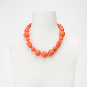 Collana girocollo corallo arancione