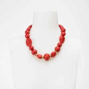Collana girocollo corallo rosso