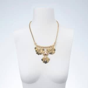 Collana girocollo pendenti inca oro
