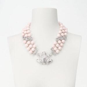 Collana girocollo rosa peau ange