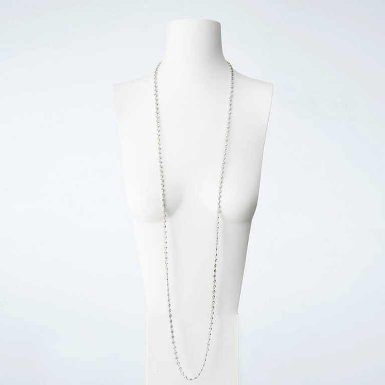 Collana lunga argento zirconi