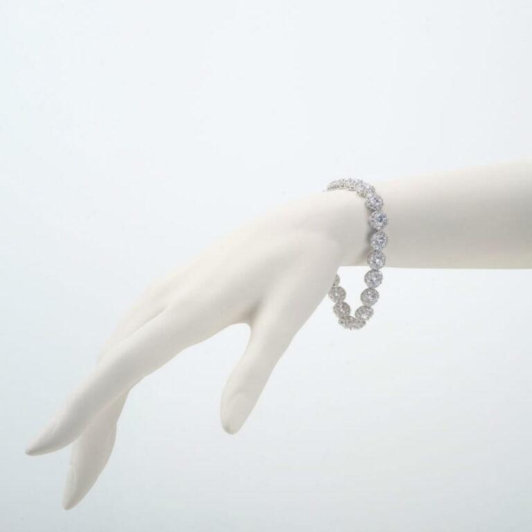 bracciale argento zirconi bianchi
