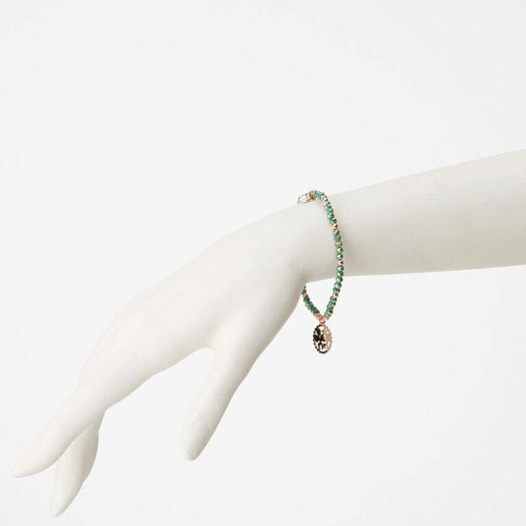 bracciale ciondolo insieme verde