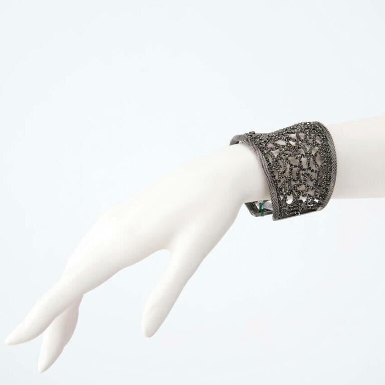 bracciale cristalli grigio