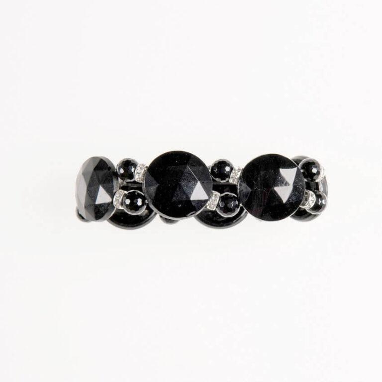bracciale cristalli neri