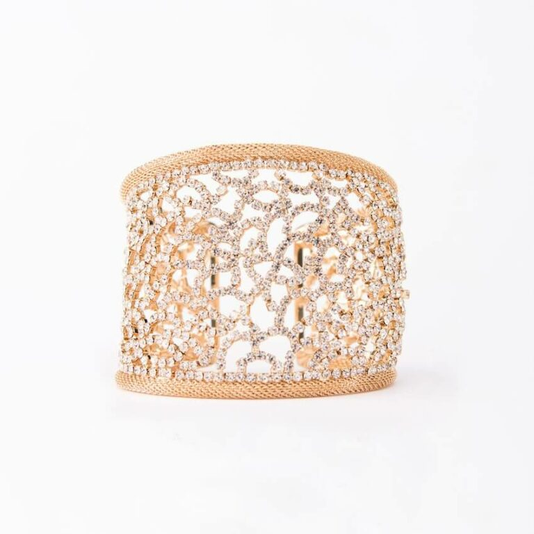 bracciale cristalli oro