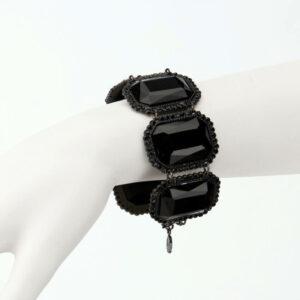 bracciale cristalli nero