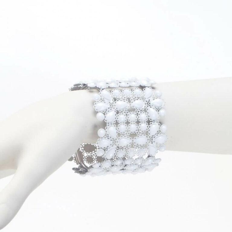 bracciale elastico bianco
