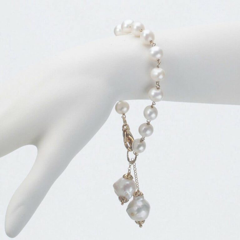 bracciale perle charms