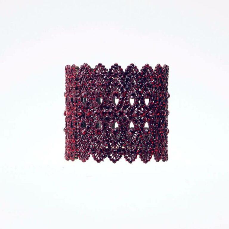 Bracciale rigido cristalli bordeaux