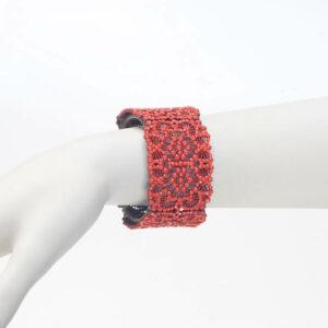 bracciale strass opaco corallo