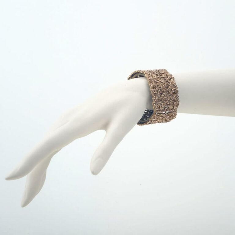 bracciale strass oro