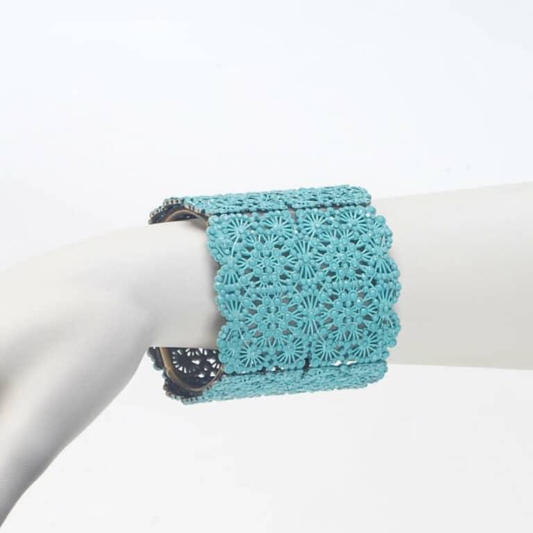 bracciale strass opaco turchese