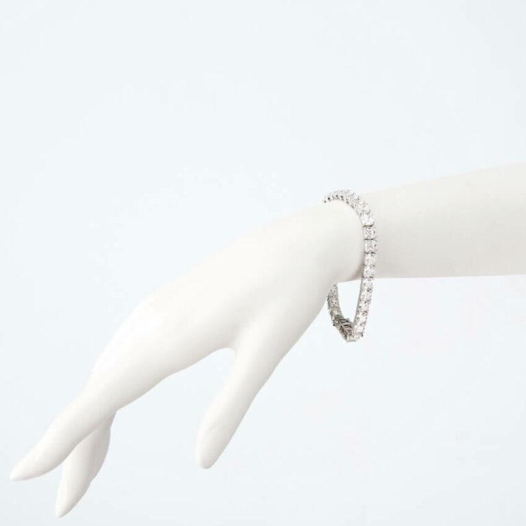 bracciale tennis argento zirconi