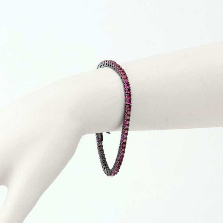 bracciale tennis rubino