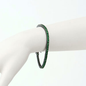 bracciale tennis verde smeraldo