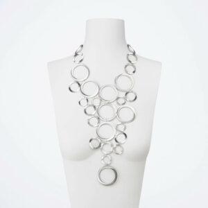 collana cascata anelli argento