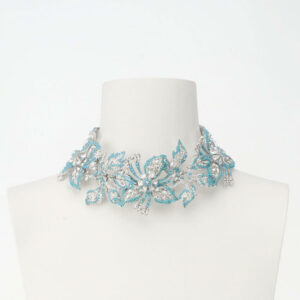 collana chocker petali turchesi
