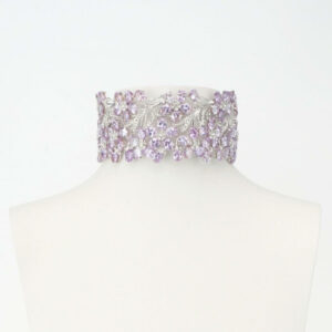 collana chocker zirconi lilla