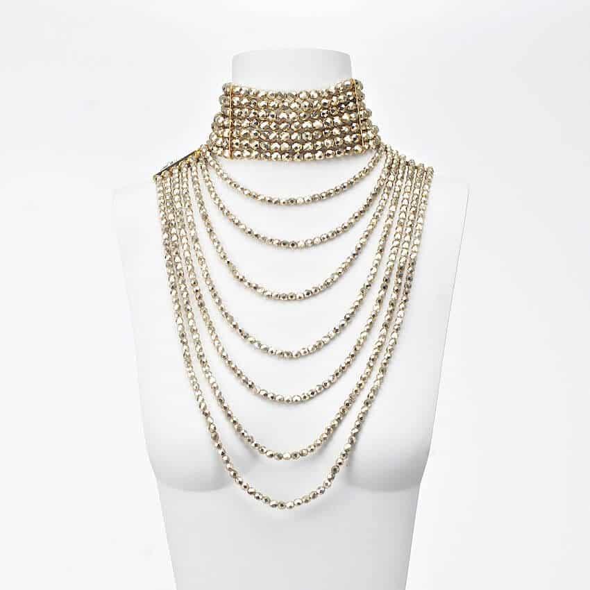 nuovo di zecca 0c6e4 8bd06 Collana di cristallo a cascata colore oro - Chic Ad Hoc