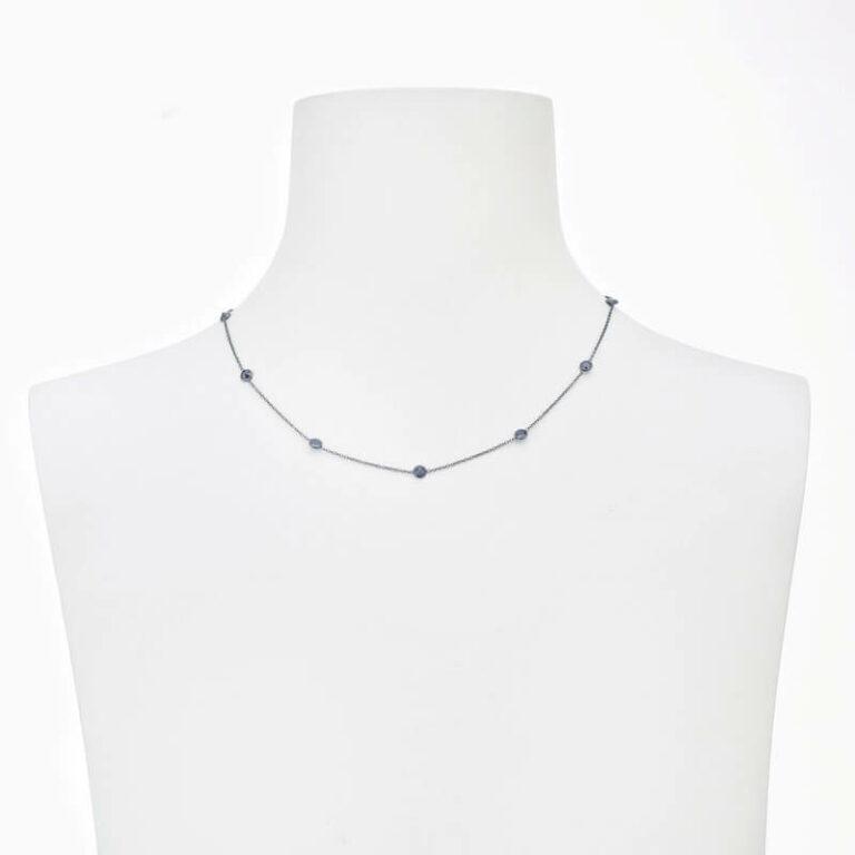 collana girocollo argento brunito