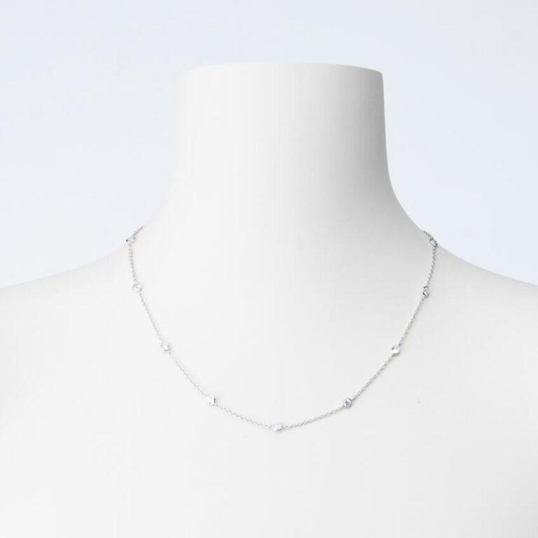 Collana girocollo argento zirconi