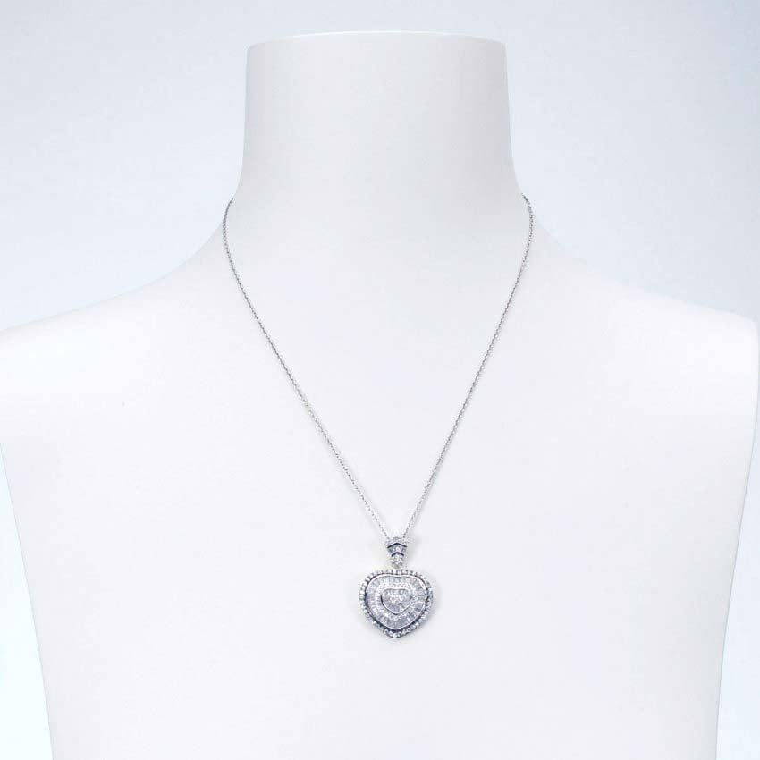 orologio 11604 a9398 Collana girocollo con ciondolo cuore color argento