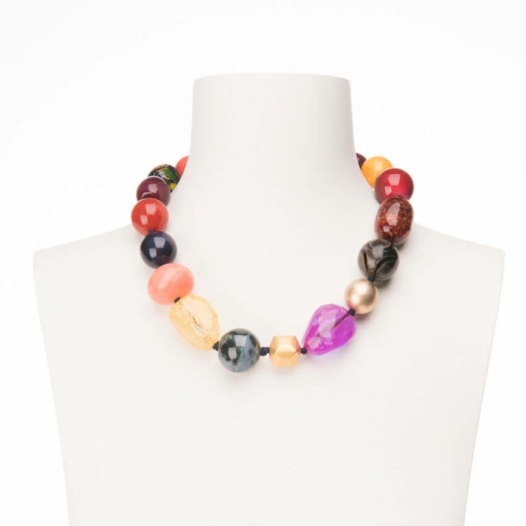 collana girocollo multicolor