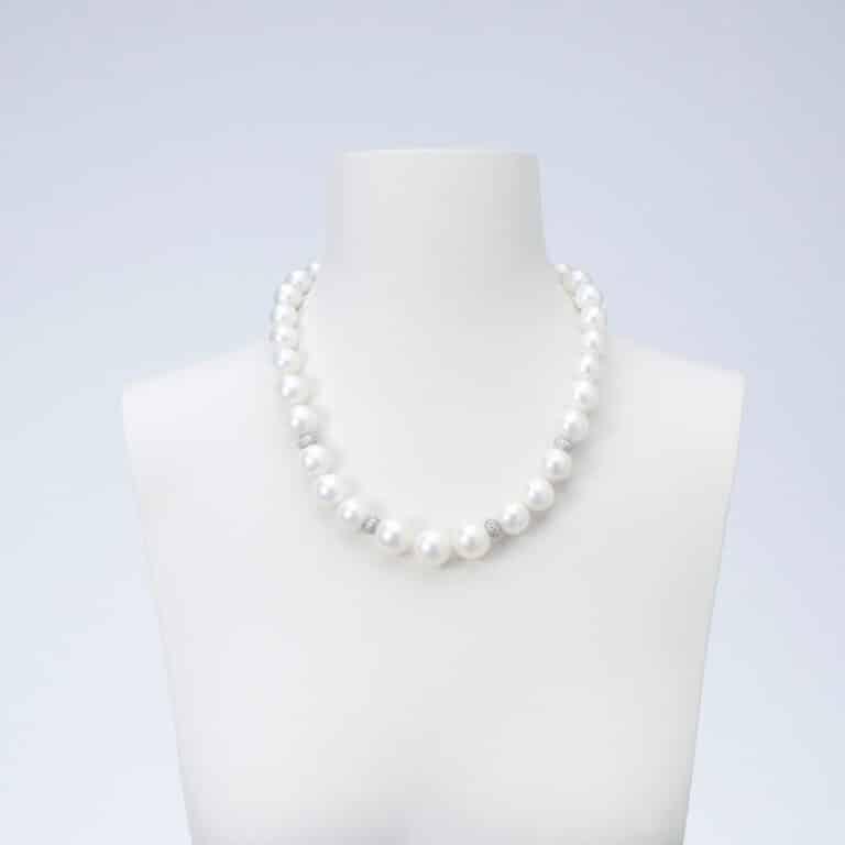 collana girocollo perle conchiglia zirconi