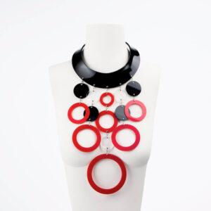collana girocollo plexiglass cleopatra anelli
