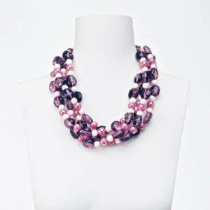 collana girocollo viola rosa
