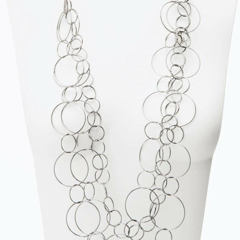 collana lunga anelli