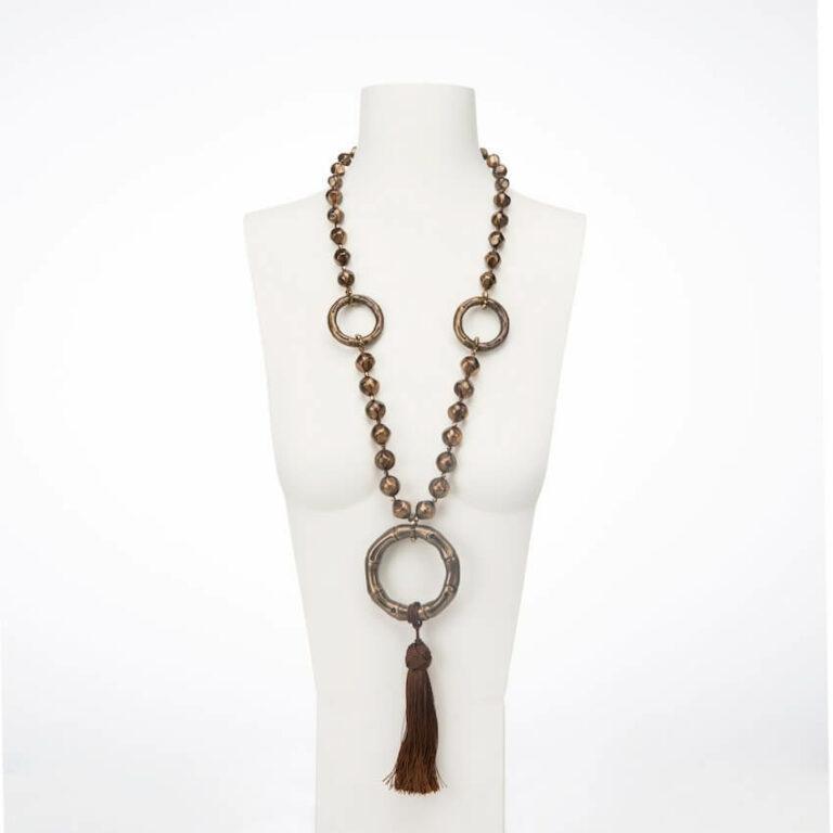 collana lunga bronzo marrone
