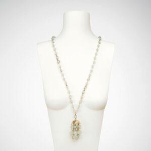 collana lunga ciondolo acquamarina medusa