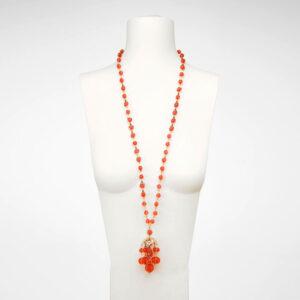 collana lunga ciondolo arancione medusa