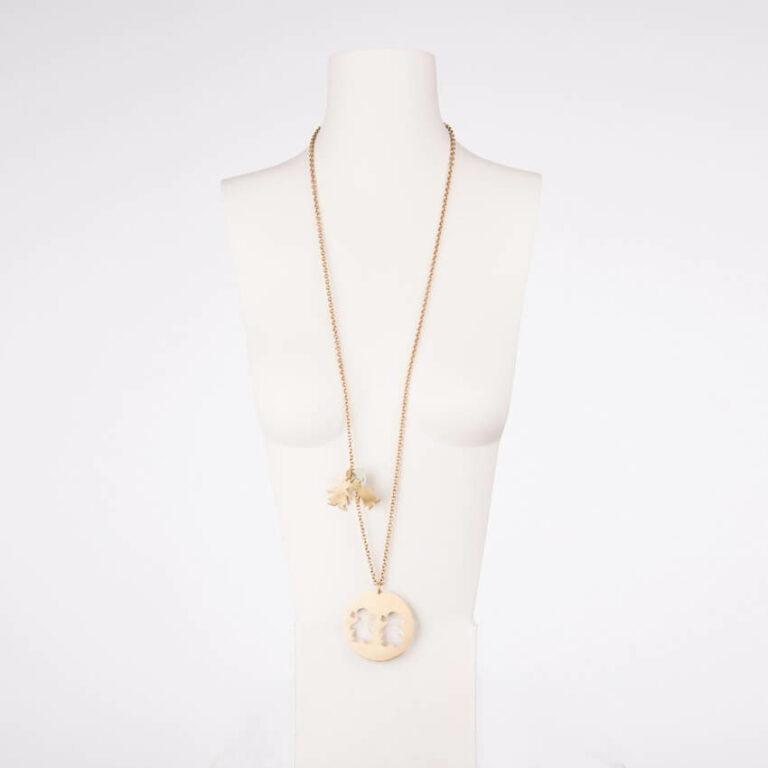collana lunga ciondolo bimba oro