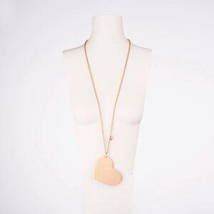 collana lunga ciondolo cuore oro