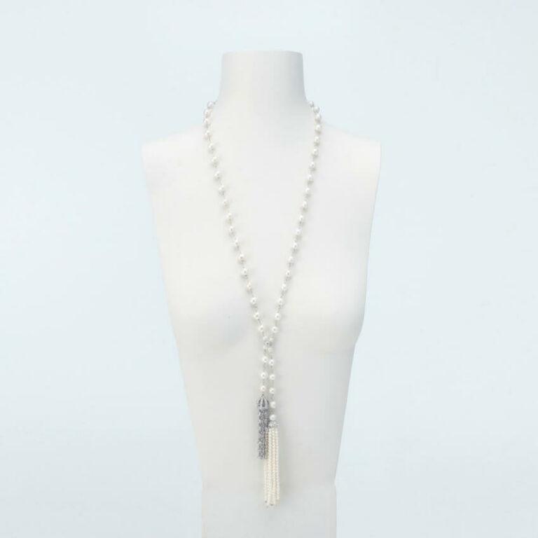 collana lunga ciuffi perle