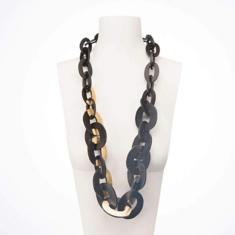collana lunga ebano oro