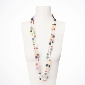 collana lunga multicolor