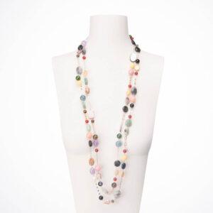 collana lunga multicolor