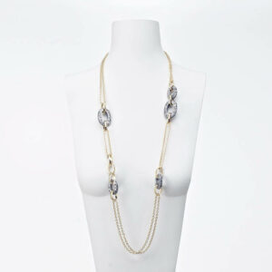 collana lunga oro argento brunito